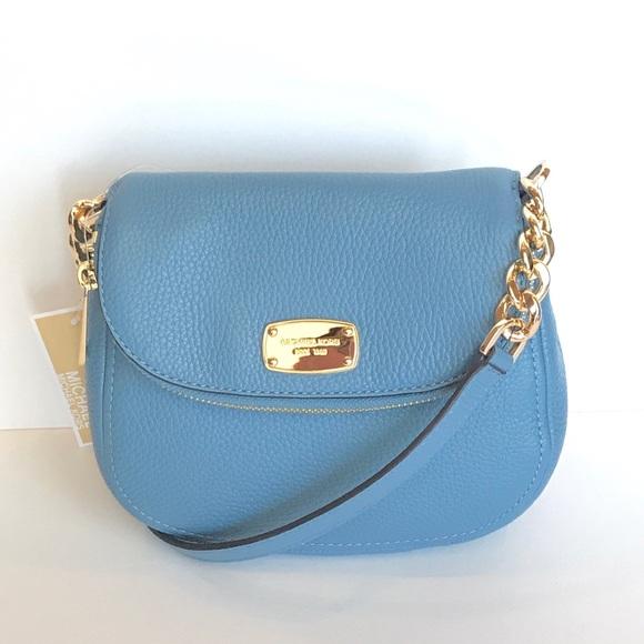 d76959123037 Michael Kors Bags | Hp Bedford Flap Crossbody Bag Sky | Poshmark